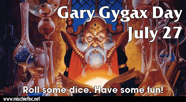 July 27 is Gary Gygax Day
